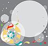 Абстрактный фон из серых кругов | Векторный клипарт