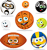 Funny balls | Stock Vector Graphics
