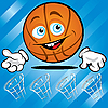 Funny smiling basketball | Stock Vector Graphics