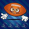 Funny smiling football | Stock Vector Graphics
