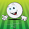 Funny Golf ball | Stock Vector Graphics