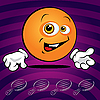 Vector clipart: Funny smiling ping pong ball