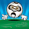 Funny Piłka nożna | Stock Vector Graphics