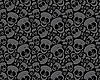 Vector clipart: pattern of skulls