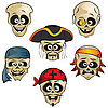 Pirates Skulls | Stock Vector Graphics