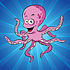 Vector clipart: Funny cartoon octopus