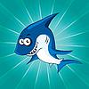 Vector clipart: Funny shark