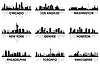 Vector clipart: City skylines