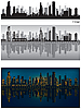 Skylines von Chicago | Stock Vektrografik