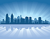 Vector clipart: Philadelphia skyline