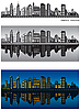 Vector clipart: Philadelphia skylines