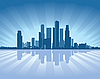 Skyline von Singapur | Stock Vektrografik