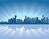 Vancouver skyline | Stock Vector Graphics
