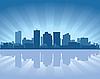 Phoenix horizonte de la ciudad | Ilustración vectorial