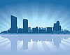 Vector clipart: Grand Rapids skyline