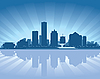 ID 3136703 | Skyline von Milwaukee | Stock Vektorgrafik | CLIPARTO