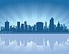 Skyline von Tulsa | Stock Vektrografik