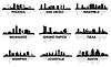 Vector clipart: American cities