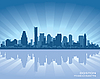 Vector clipart: Boston skyline