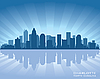 Charlotte skyline | Stock Vector Graphics