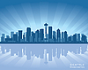 Seattle skyline | Stock Vector Graphics