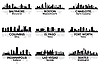 Vector clipart: American cities skylines