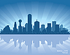 Vector clipart: Dallas skyline
