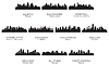 Vector clipart: Silhouettes of the USA cities
