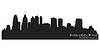 Horizonte de Philadelphia | Ilustración vectorial