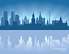 Skyline von Moskau | Stock Vektrografik