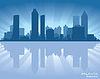 Vector clipart: Atlanta skyline