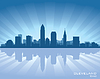 Vector clipart: Cleveland, Ohio skyline