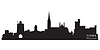 Vector clipart: Cork, Ireland skyline. Detailed silhouette