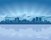 Anchorage, Alaska skyline | Stock Vector Graphics