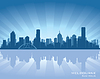 Melbourne, Australia skyline | Stock Vector Graphics
