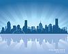Melbourne, Australia horizonte | Ilustración vectorial