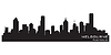 Vector clipart: Melbourne, Australia skyline. Detailed silhouette