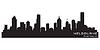 Melbourne, Australia skyline. Detailed silhouette