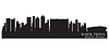 Vector clipart: Cape Town, South Africa skyline. Detailed silhouette