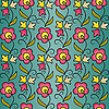 Vector clipart: seamless flower pattern background