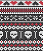 Knitted pattern with skulls | Stock Vector Graphics