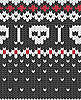 Vector clipart: Knitted pattern with skulls
