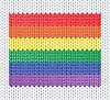 gestrickte Regenbogenflagge