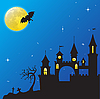 Vektor Cliparts: Haloween Schloss