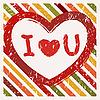 Векторный клипарт: Валентина день фон в стиле гранж