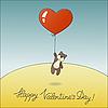 Векторный клипарт: Милая плюшевого мишку с воздушным шаром