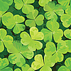 Vector clipart: Seamless pattern with clover leaves
