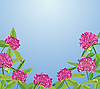 Vector clipart: Background with clover flowers