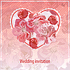 Vector clipart: Invitation for wedding