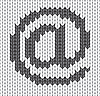 gestricktes E-Mail-Icon